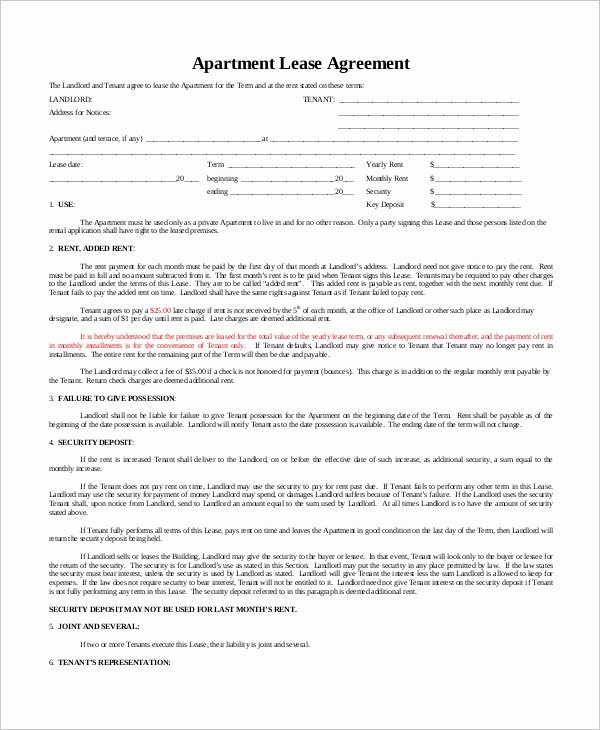 Basic Lease Agreement Template Unique Sample Basic Lease Agreement 12 Examples In Word Pdf