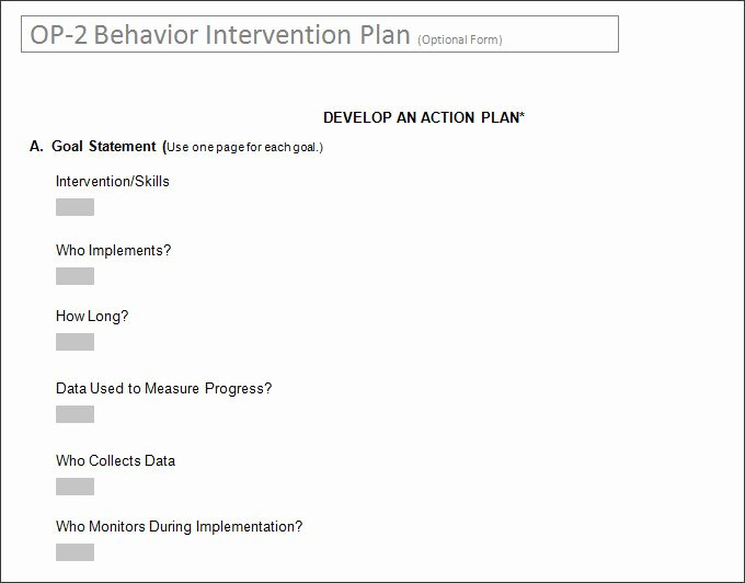 Behavior Intervention Plan Template Awesome Behavior Intervention Plan Template 4 Free Word Pdf