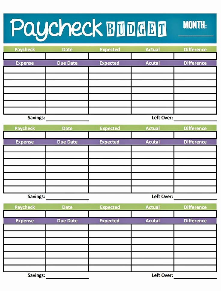 Bi Weekly Budget Template Beautiful Bud Worksheet Printable