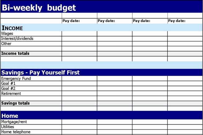 Bi Weekly Budget Template Best Of 1 Bi Weekly Bud Template Free Download