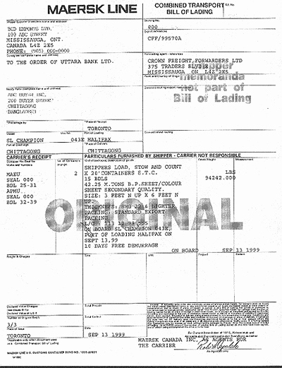 Bill Of Lading Sample Lovely 5 What is Bill Of Lading