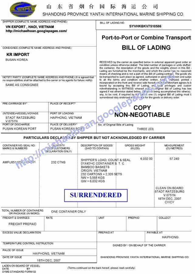 Bill Of Lading Sample Luxury 21 Free Bill Of Lading Template Word Excel formats