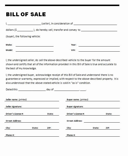 Bill Of Sale Car Template Luxury if You are Selling or Ing A Car You Will Need A Car