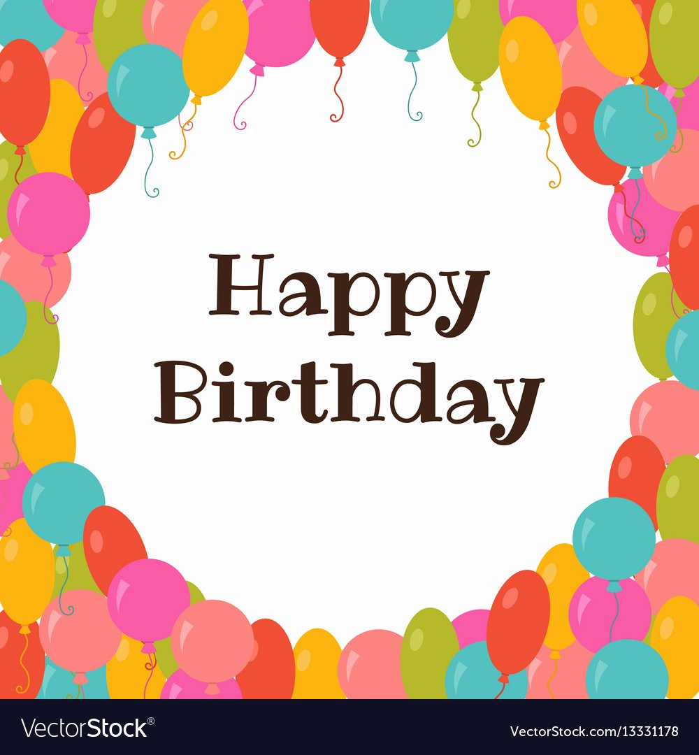 Birthday Card Template Free Awesome Happy Birthday Card Template with Colorful Vector Image