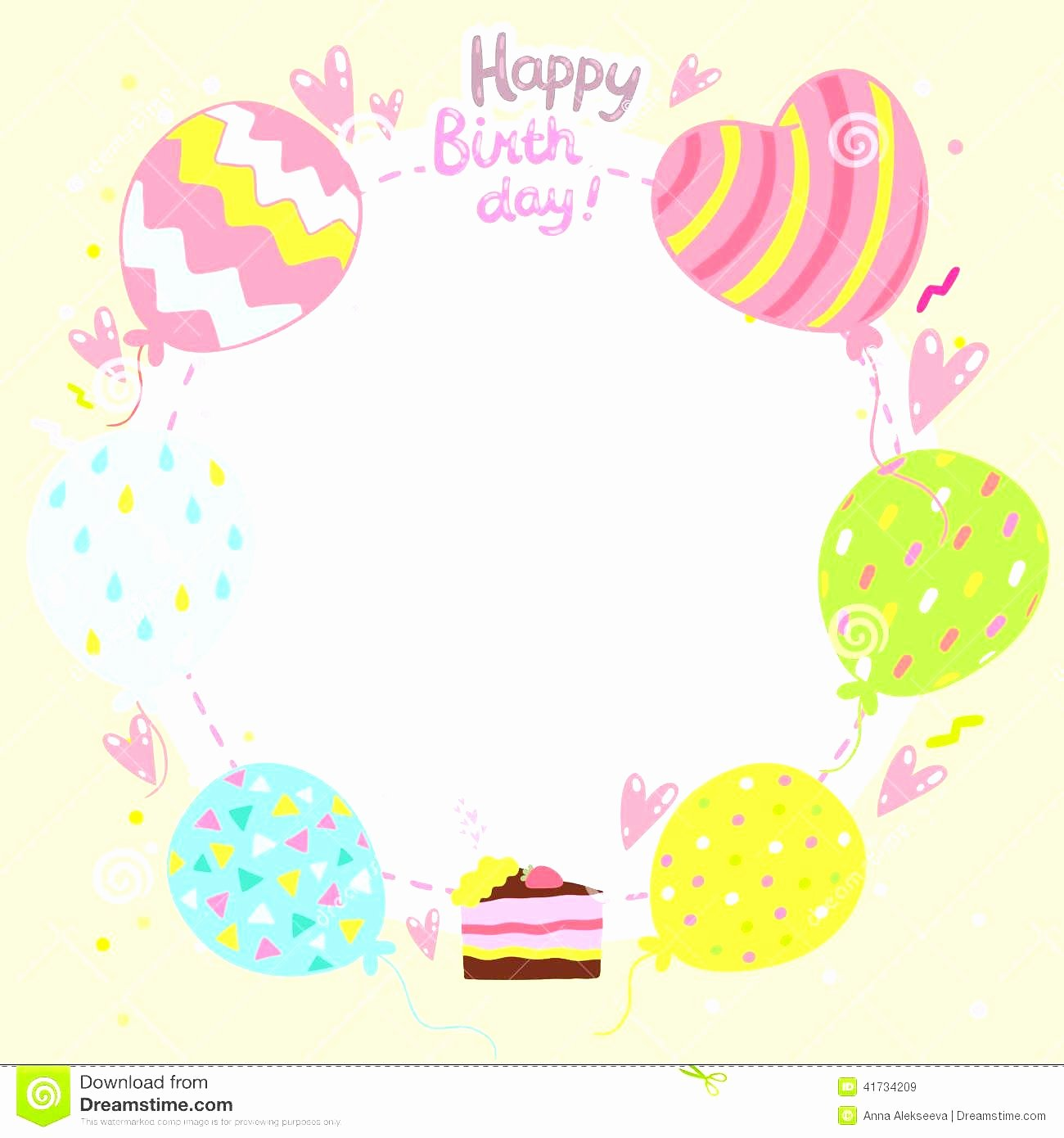 Birthday Card Template Free Beautiful Birthday Card Template