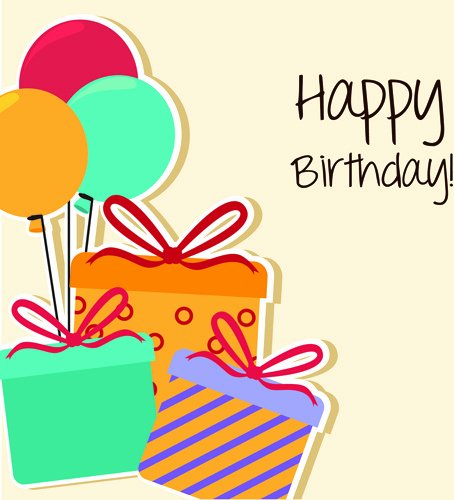 Birthday Card Template Free Beautiful Happy Birthday Editable Card Free Vector 15 733