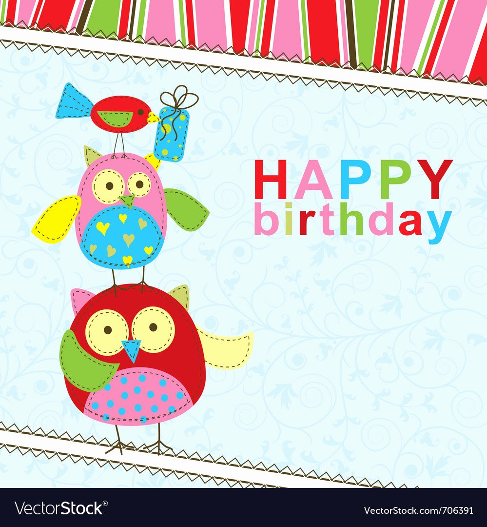 Birthday Card Template Free Beautiful Template Birthday Greeting Card Royalty Free Vector Image