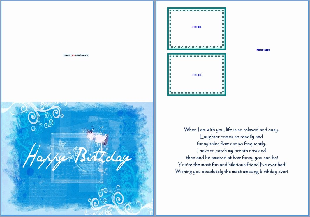 Birthday Card Template Free Best Of Birthday Card Template