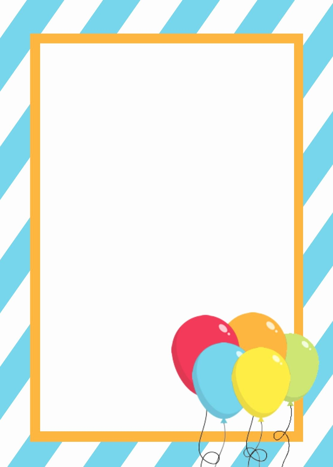 Birthday Card Template Free Inspirational Free Printable Birthday Invitation Templates