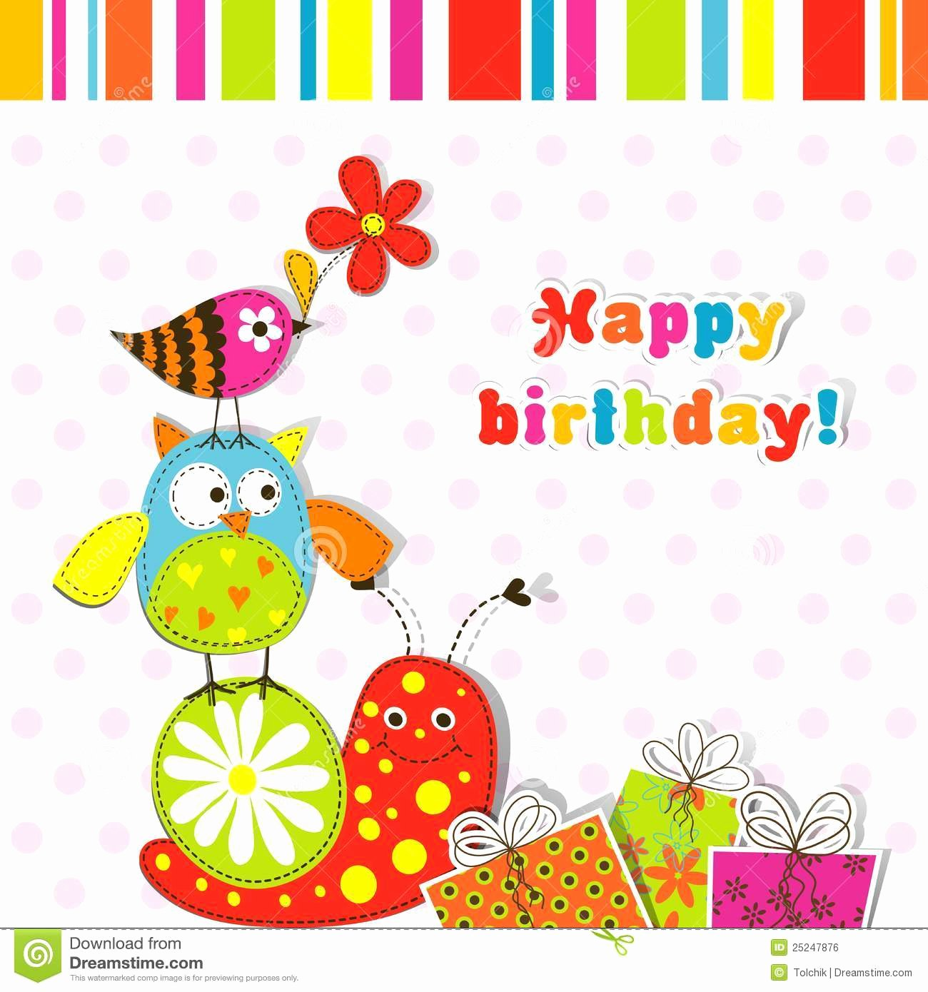 Birthday Card Template Free Inspirational Template Greeting Card Stock Vector Illustration Of