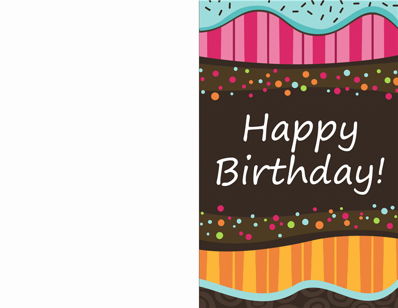 Birthday Card Template Free Lovely Birthday Card Dots and Stripes Kids Half Fold