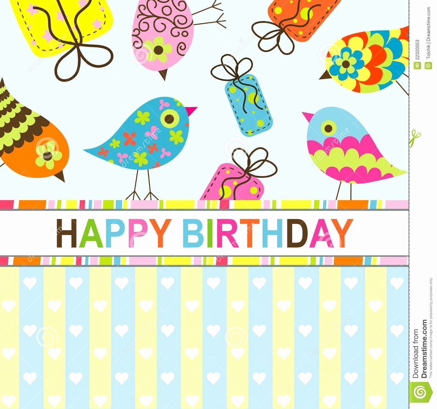 Birthday Card Template Free Luxury Birthday Card Template