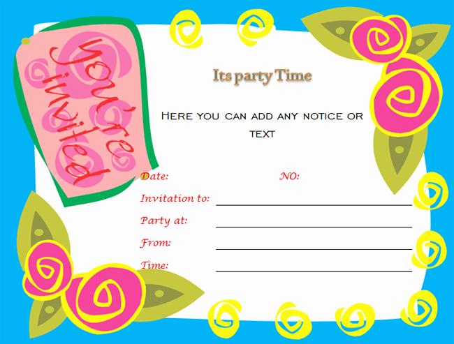 Birthday Invitation Templates Word Best Of 40th Birthday Ideas Birthday Invitation Templates for