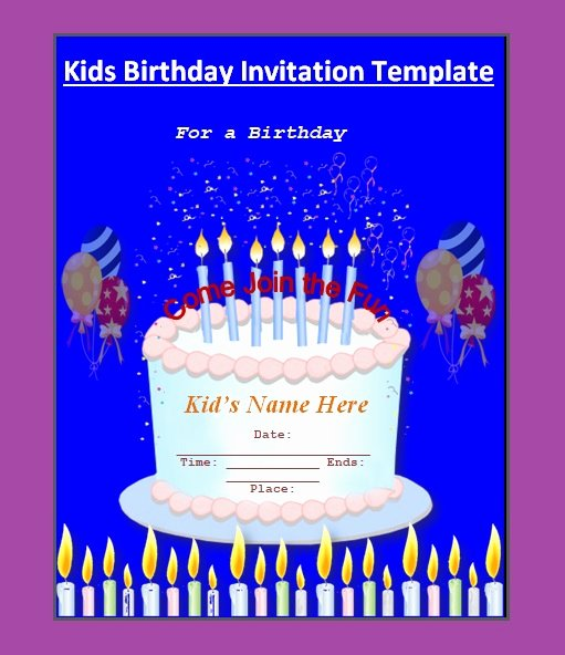 Birthday Invitation Templates Word Inspirational 10 Free Birthday Invitation Templates