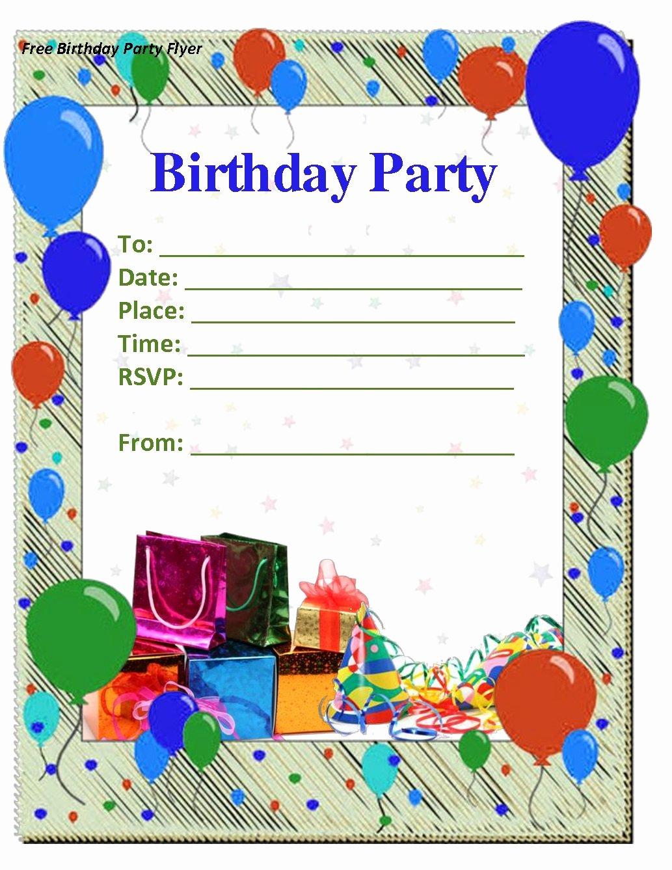 Birthday Invitation Templates Word Inspirational Birthday Invitations Templates Word