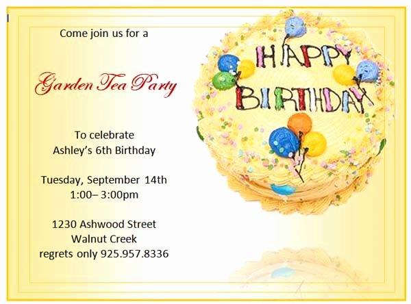 Birthday Invitation Templates Word Lovely Birthday Party Invitations Microsoft Word Templates