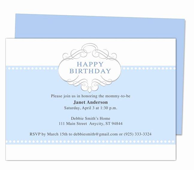 Birthday Invitation Templates Word Lovely Prince 1st Birthday Invitation Templates Edits with Word