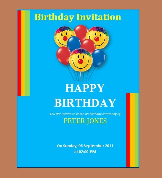 Birthday Invitation Templates Word Unique 10 Free Birthday Invitation Templates