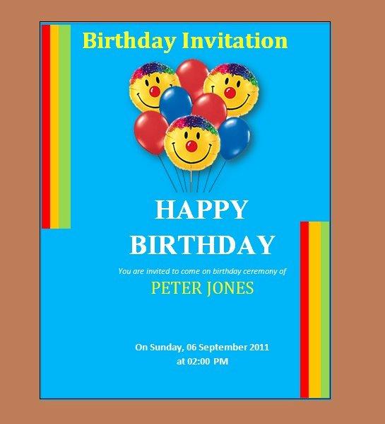 Birthday Invitation Templates Word Unique 10 Free Birthday Invitation Templates