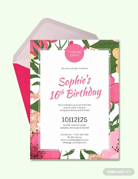 Birthday Invitation Templates Word Unique 49 Birthday Invitation Templates Psd Ai Word