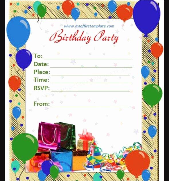 Birthday Invitation Templates Word Unique Free 63 Printable Birthday Invitation Templates In Pdf