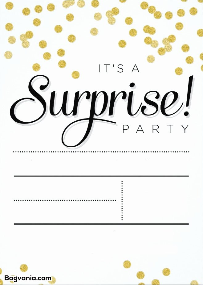 Birthday Invitation Templates Word Unique Free Printable Surprise Birthday Invitations – Free