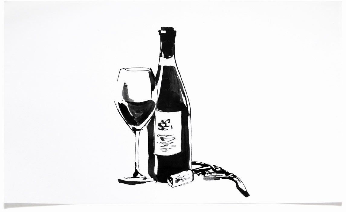 Black and White Illustration Lovely Food and Drink Illustrations Eri Griffin