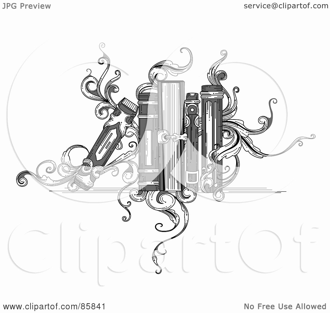 Black and White Illustration Unique Royalty Free Rf Clipart Illustration Of A Vintage Black