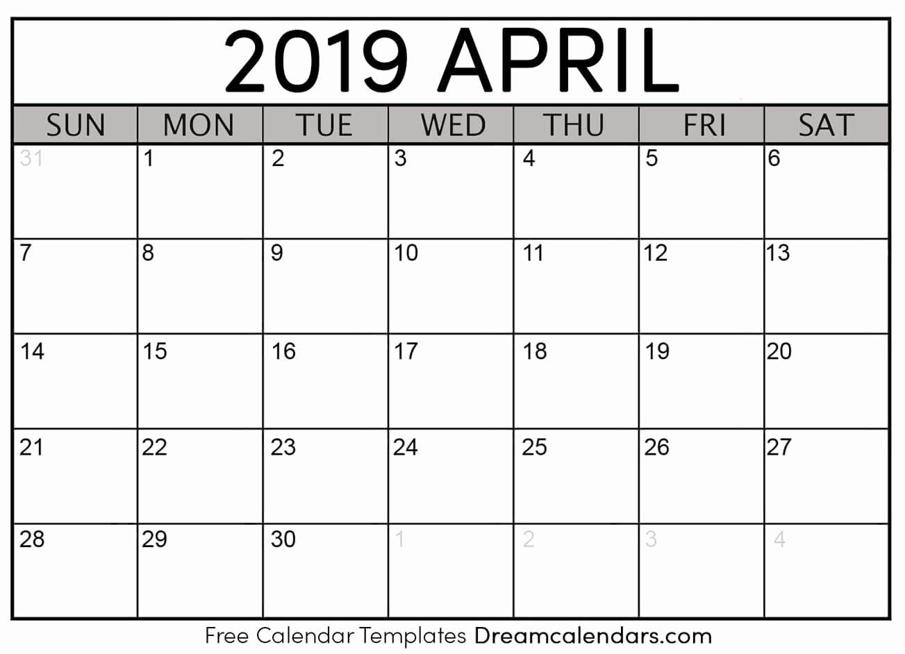 Blank Calendar Template 2019 Awesome How to A Printed or Printable Calendar for April 2019