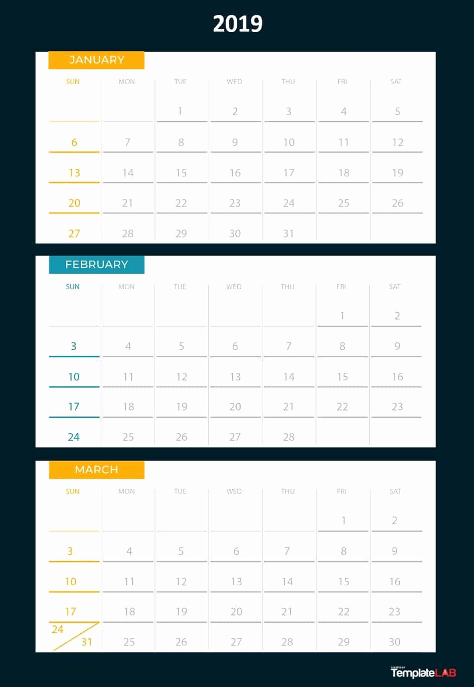 Blank Calendar Template 2019 Fresh 2019 Printable Calendars [monthly with Holidays Yearly