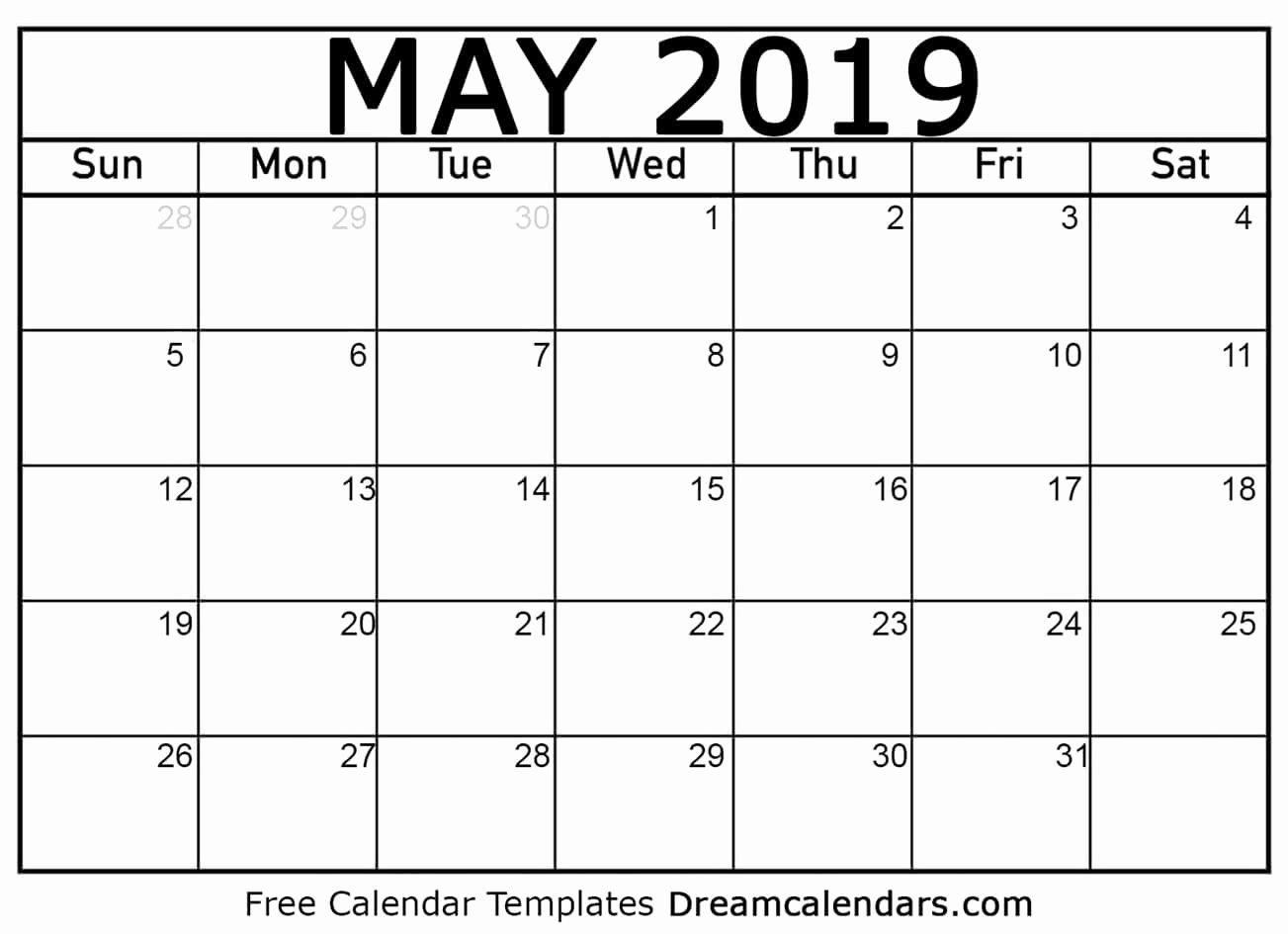 Blank Calendar Template 2019 Unique How to A Printed or Printable Calendar for May 2019