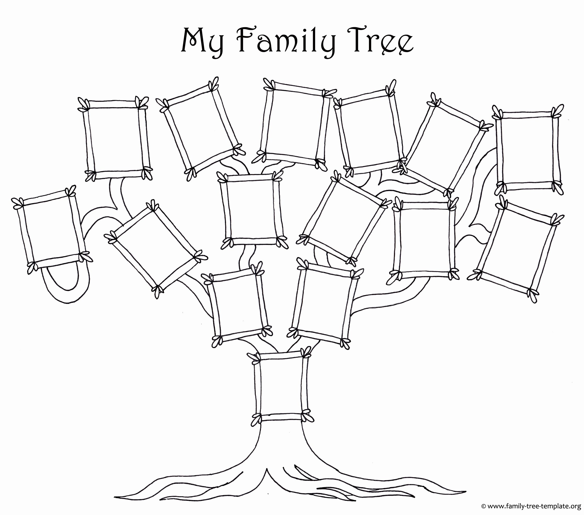 Blank Family Tree Chart Best Of Free Family Tree Template Designs for Making Ancestry Charts