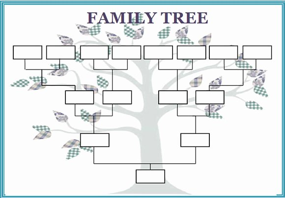 Blank Family Tree Chart Luxury Free 56 Family Tree Templates In Word Apple