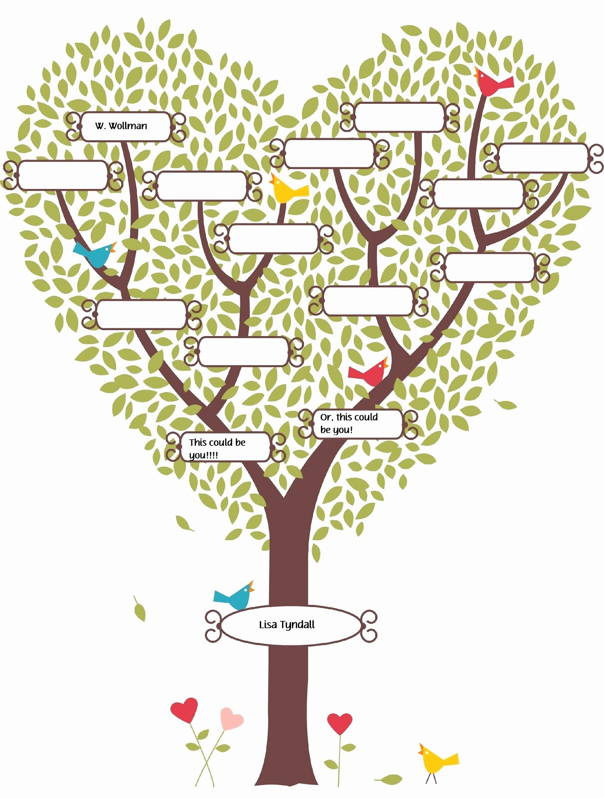 Blank Family Tree Template Awesome Cute Fill In the Blank Family Tree Lds
