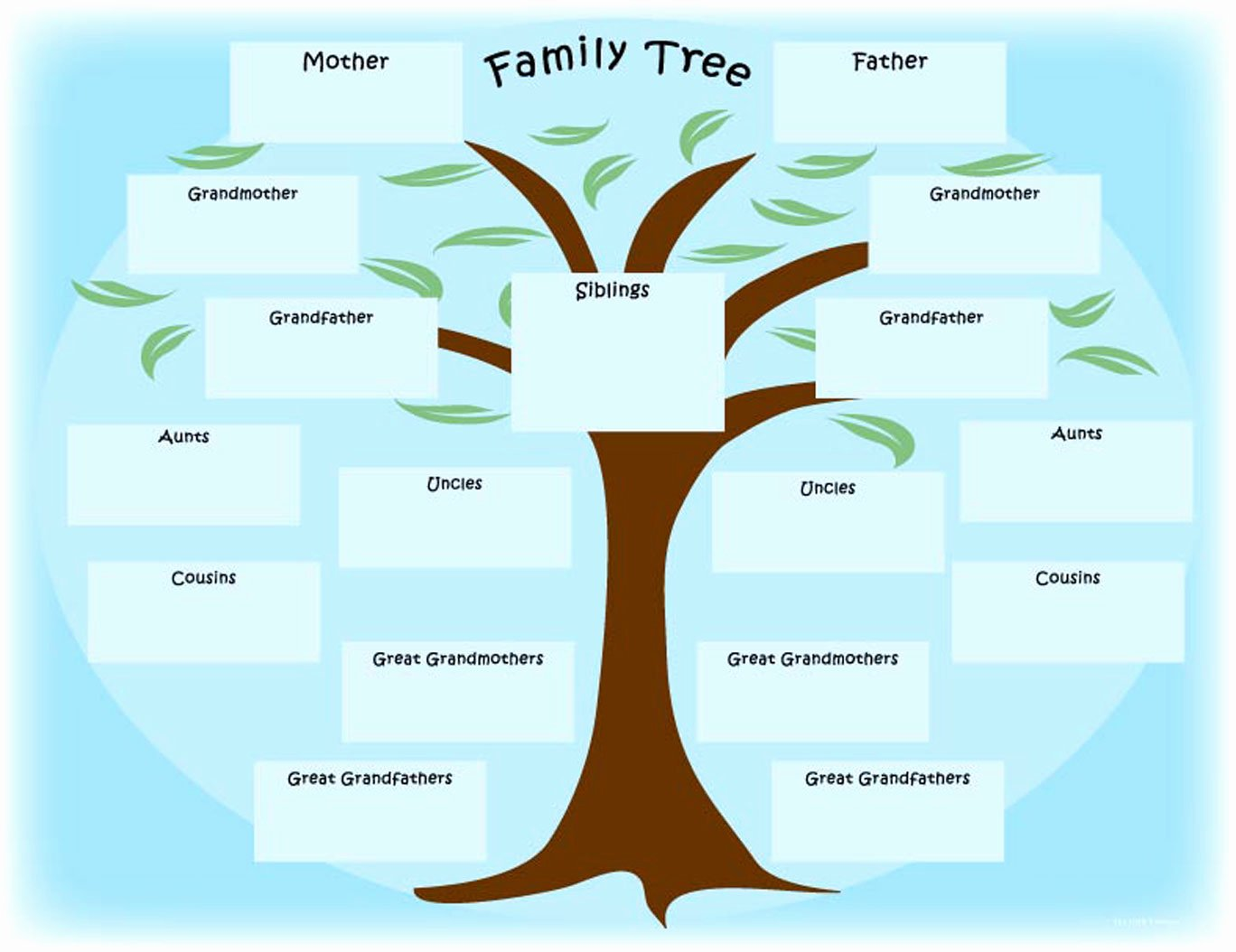 Blank Family Tree Template Beautiful Family Tree S – Weneedfun