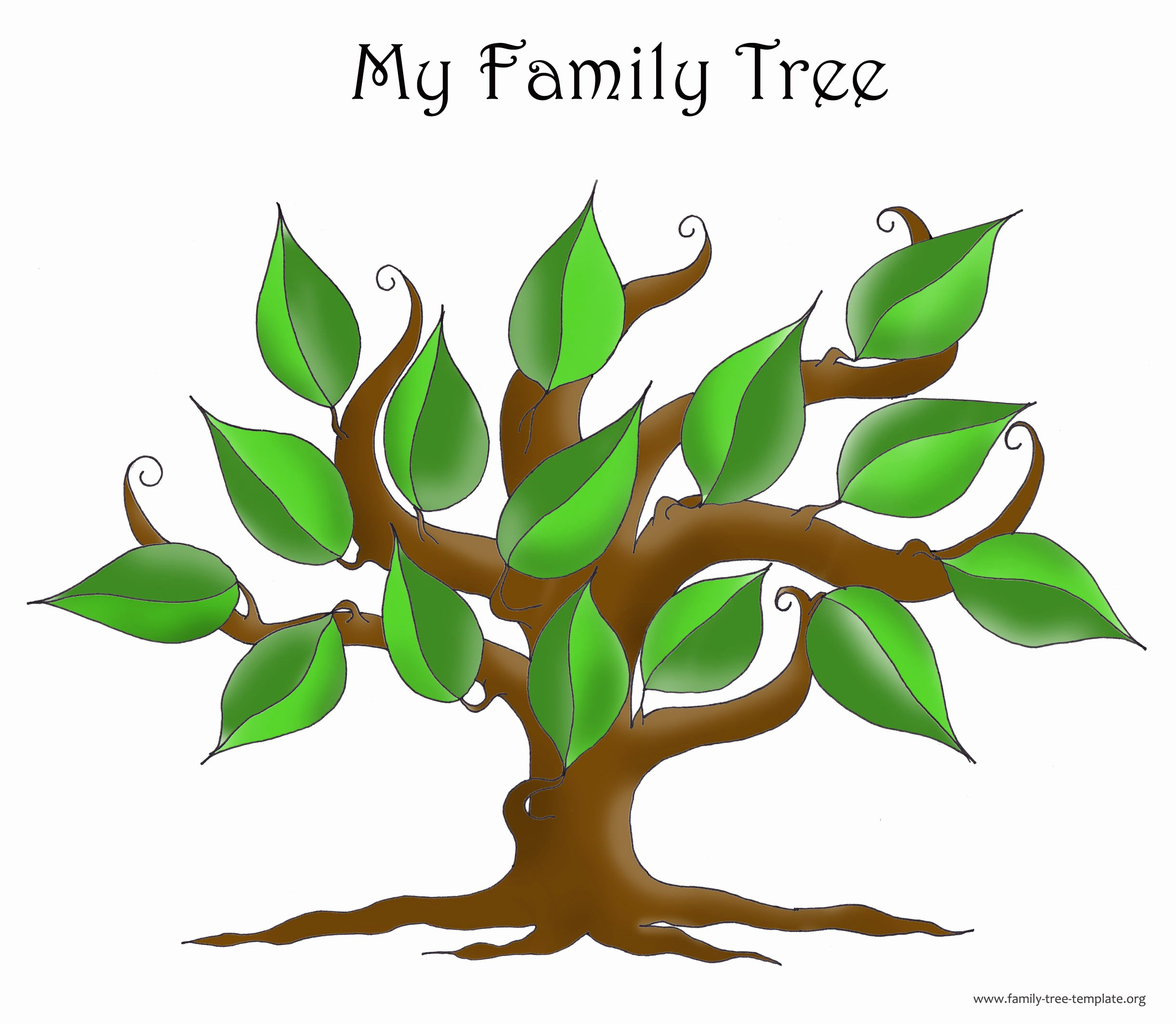 Blank Family Tree Template Elegant Family Tree Template Resources
