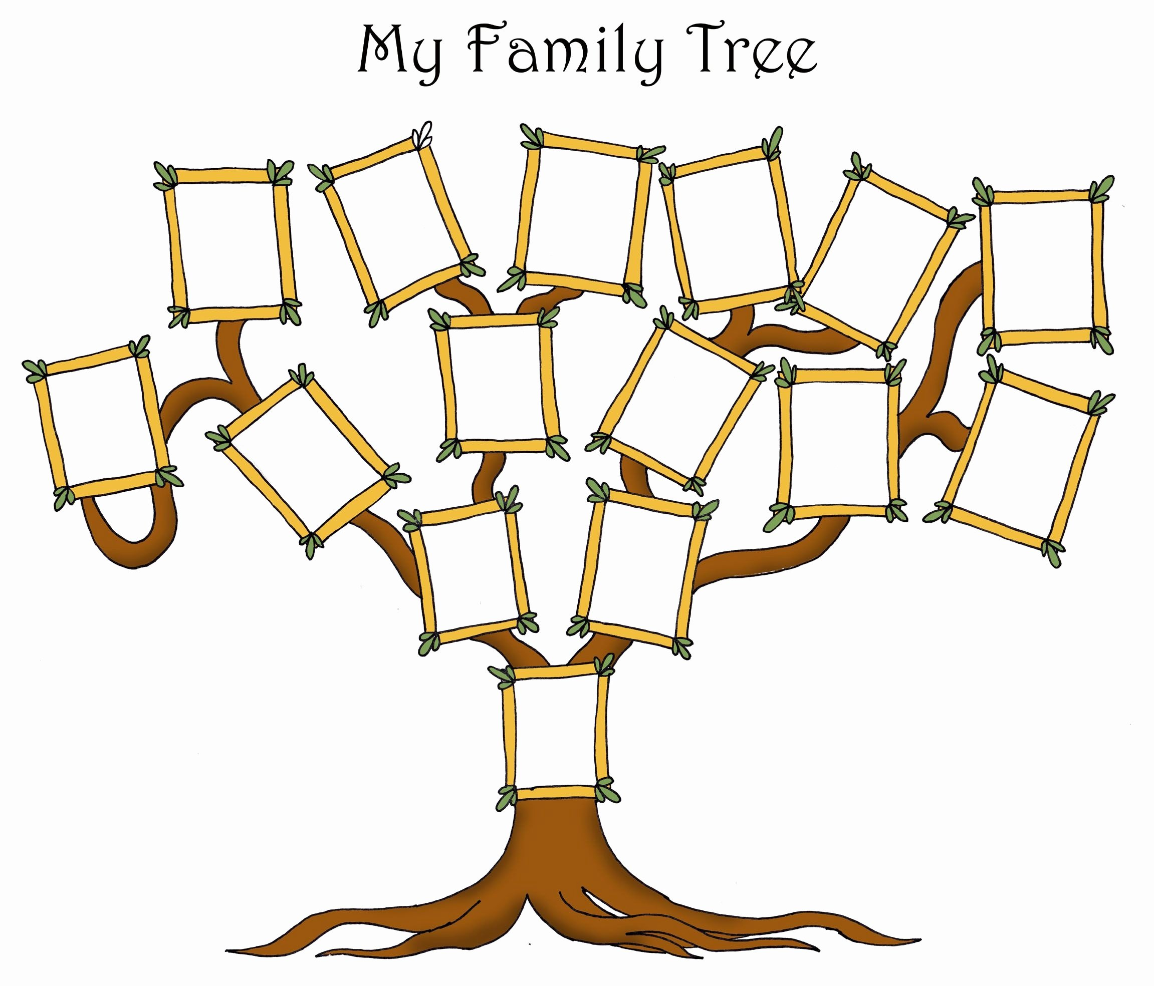 Blank Family Tree Template Elegant Free Editable Family Tree Template Daily Roabox