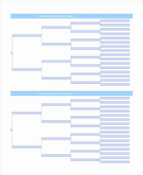 Blank Family Tree Template Inspirational Sample Blank Family Tree Template 8 Free Documents