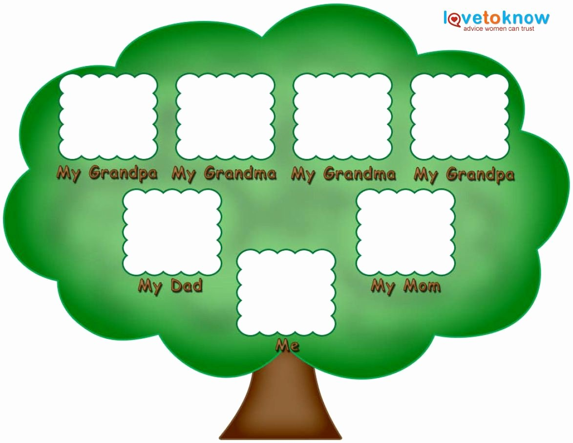 Blank Family Tree Template New Preschool Family Tree Family Tree Kids