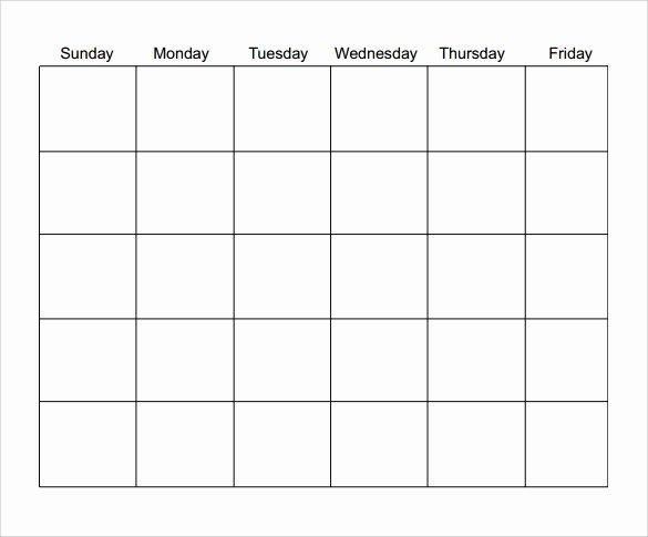 Blank Monthly Calendar Pdf Beautiful Free 15 Sample Blank Calendar Templates In Pdf