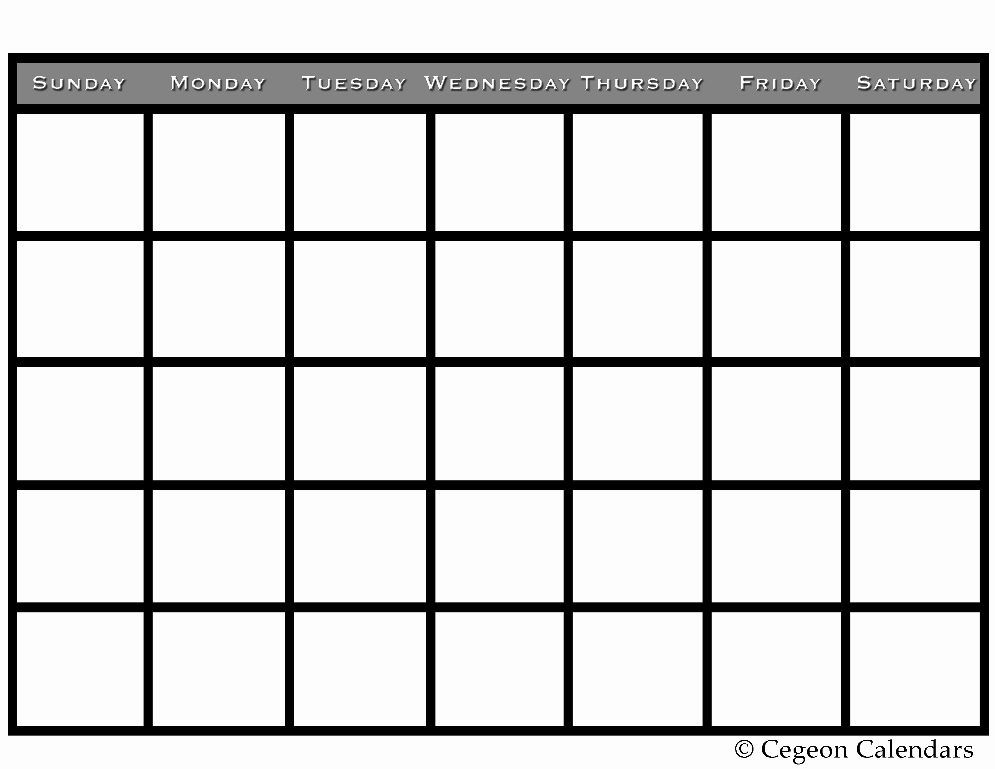 Blank Monthly Calendar Pdf Best Of Get Your Free Printable Blank Calendar