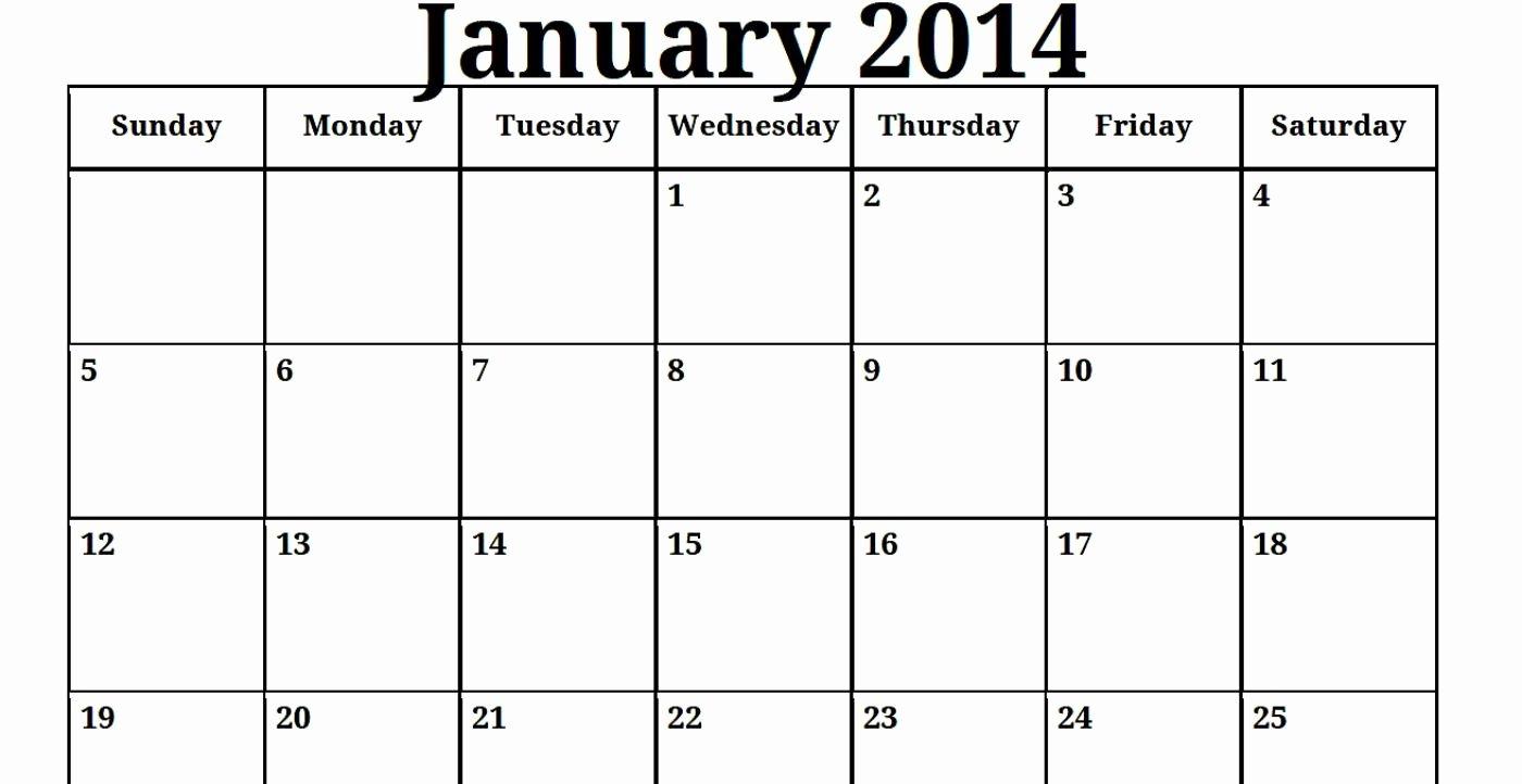 Blank Monthly Calendar Pdf Elegant 2014 Print Blank Monthly Calendar