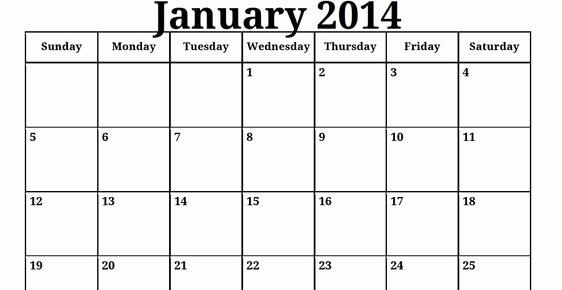Blank Monthly Calendar Pdf Fresh 2014 Print Blank Monthly Calendar