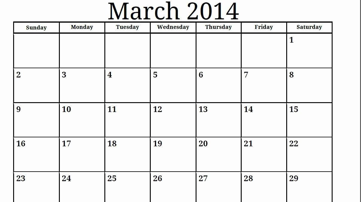 Blank Monthly Calendar Pdf Fresh Print Free 2014 Calendar