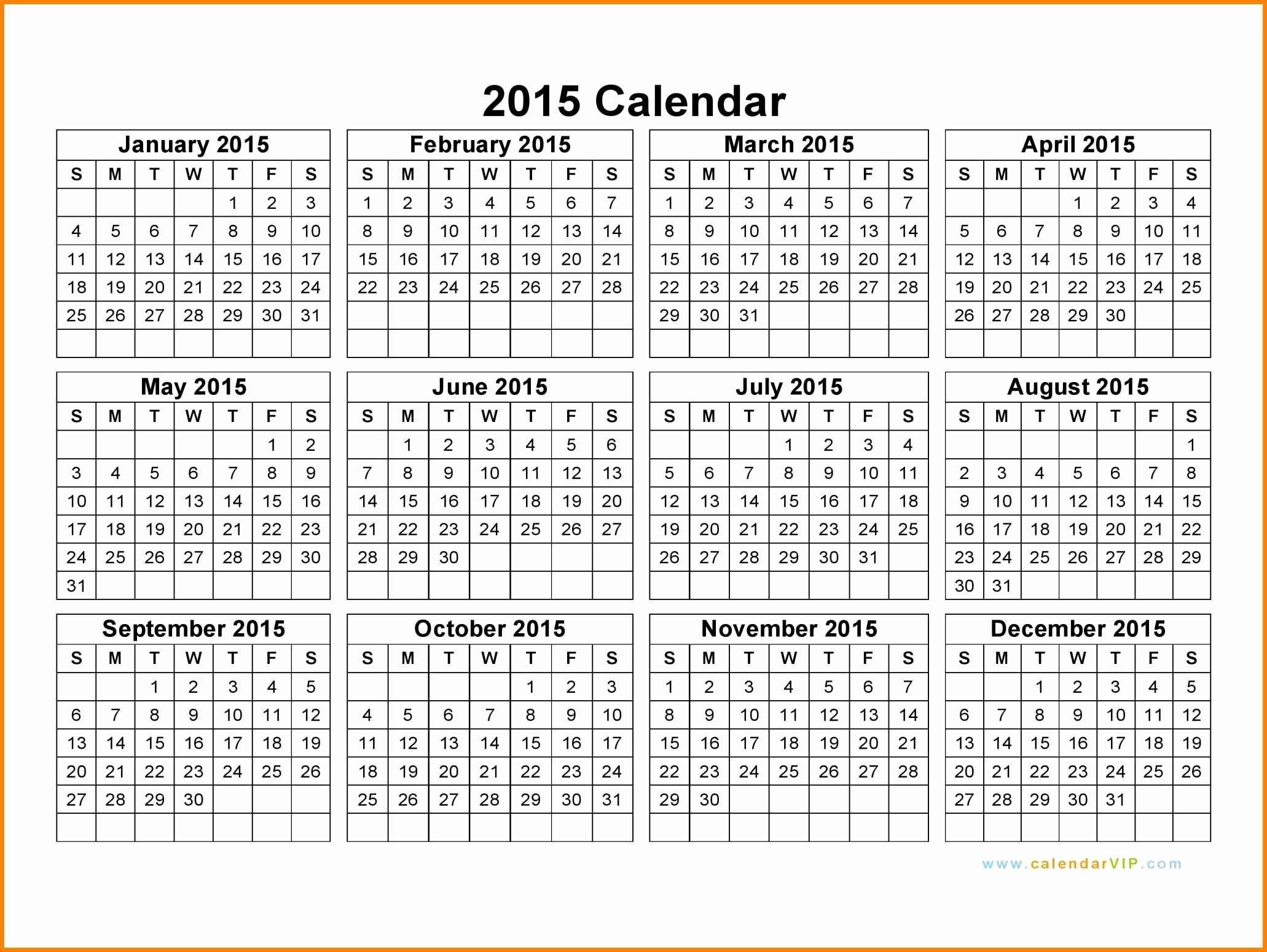 Blank Monthly Calendar Pdf Luxury 5 Editable Calendar 2015