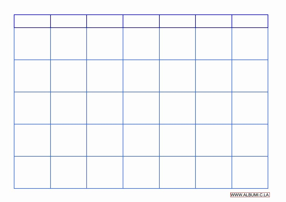 Blank Monthly Calendar Template Pdf Awesome Blank Calendar Grid 2016 to Print Pdf and Excel forms