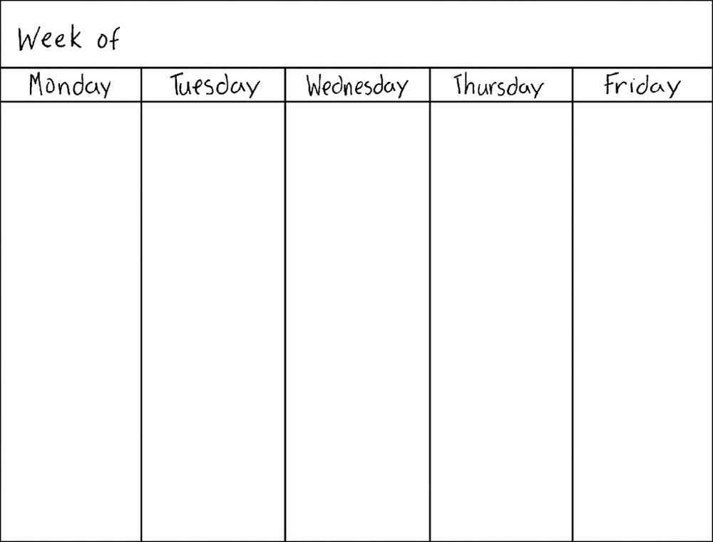 Blank Monthly Calendar Template Pdf Awesome Blank Weekly Calendars Printable