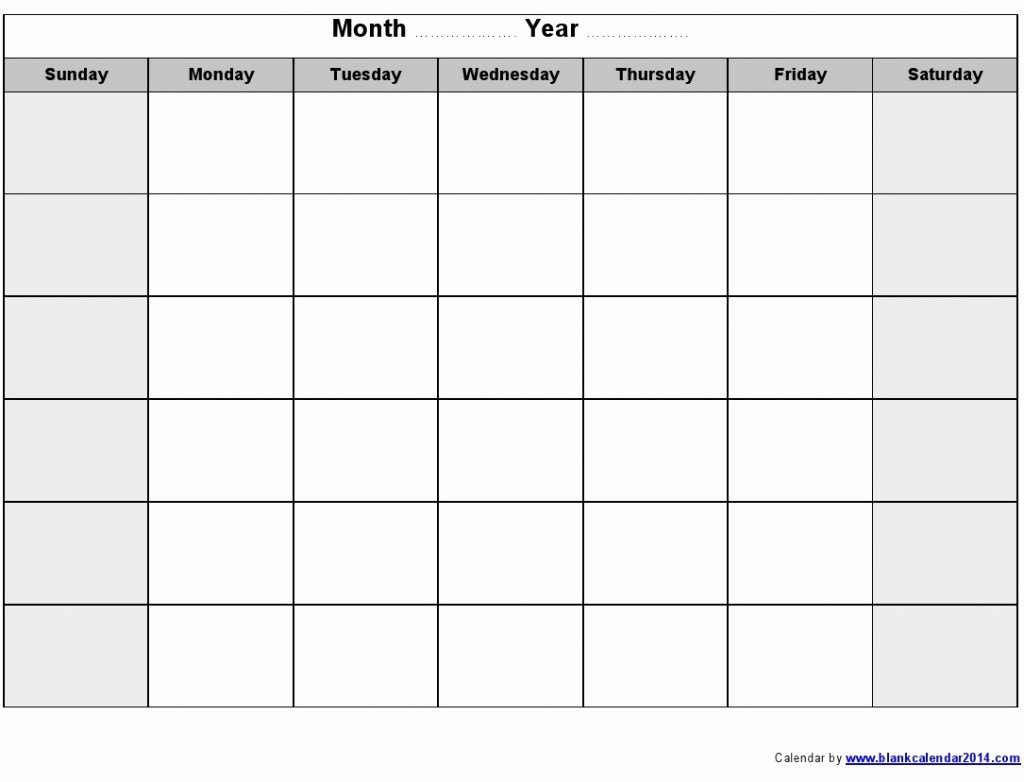 Blank Monthly Calendar Template Pdf Beautiful Monthly Schedule Template