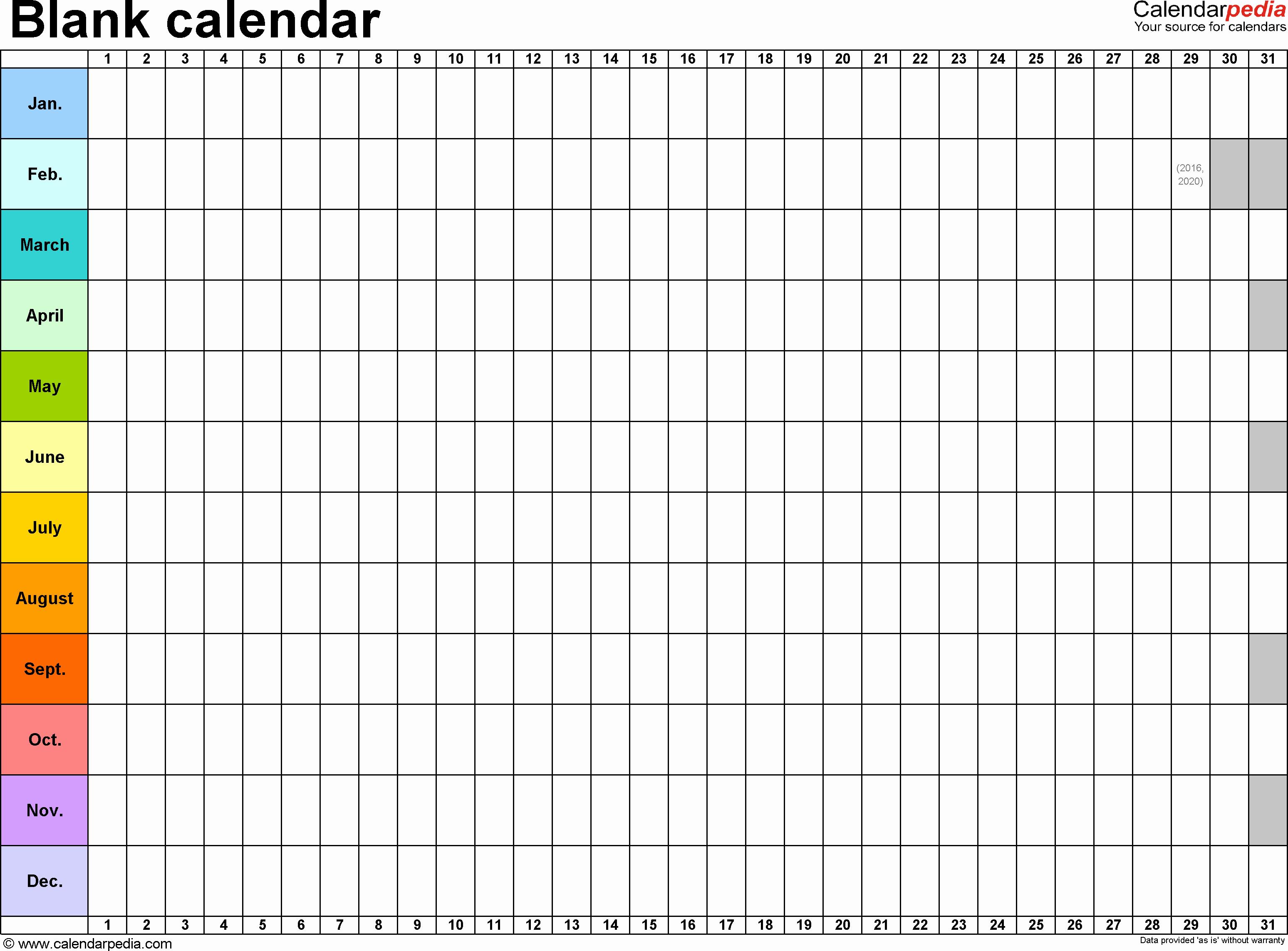 Blank Monthly Calendar Template Pdf Elegant Blank Calendars Free Printable Pdf Templates