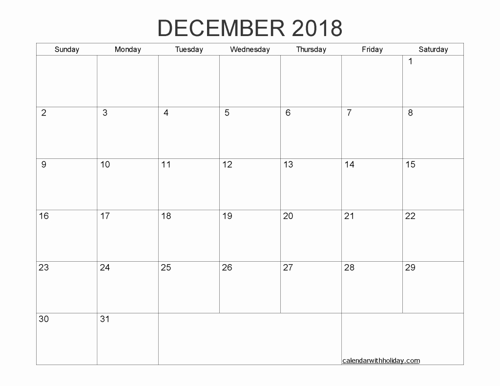 Blank Monthly Calendar Template Pdf Inspirational Blank Calendar 2018 Printable 1 Month Calendar Template